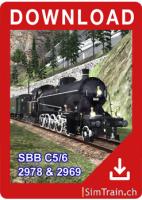 C 5/6 Dampflolomotive 2978 2969 deutsch
